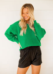 SHINE BRIGHT EMERALD SWEATER