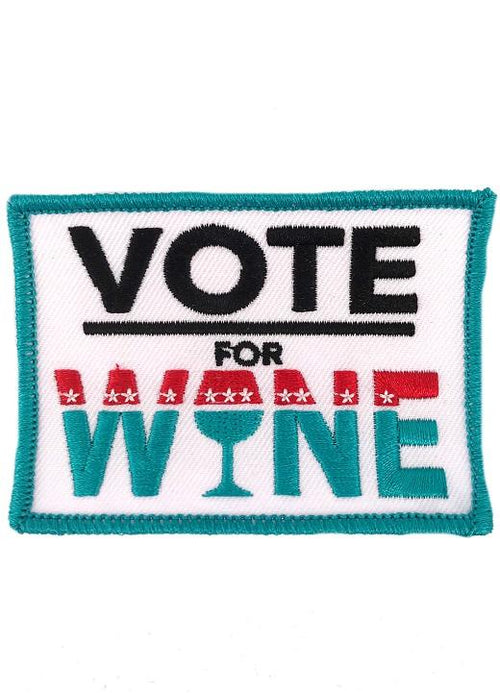 VOTE FOR WINE PATCH - NAVY