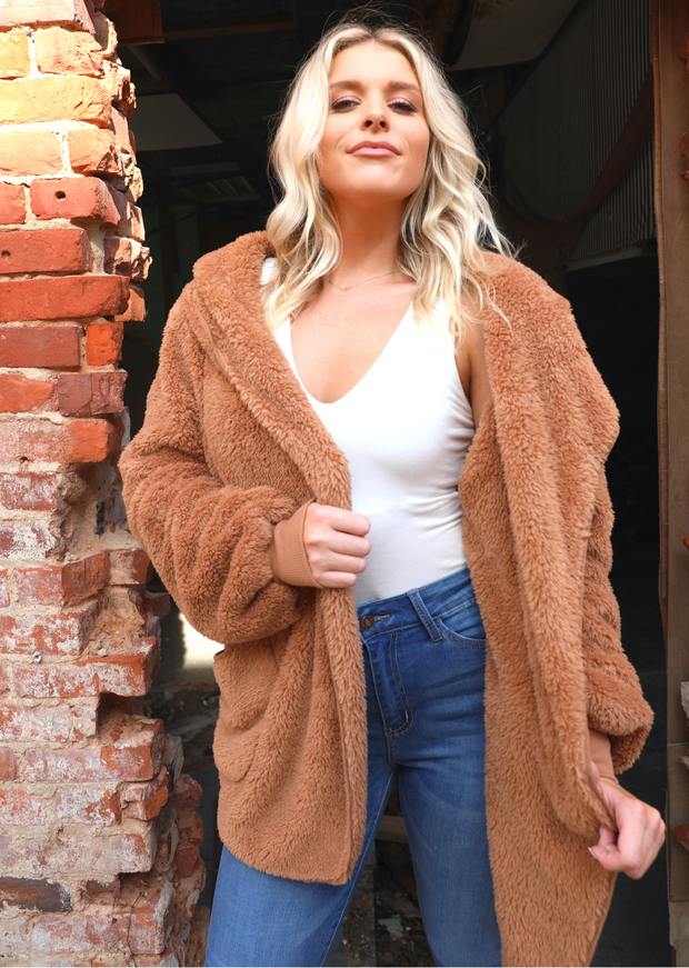 STAR OPEN FUR JACKET