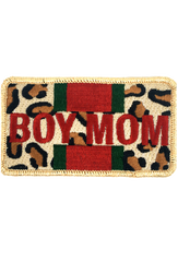 BOY MOM LEOPARD PATCH