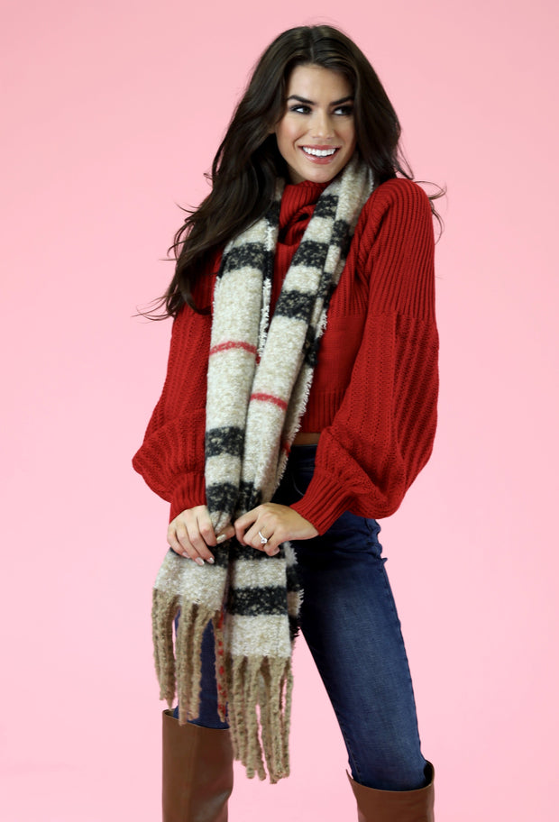 COZY PLAID SCARF