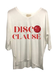DISCO CLAUSE 3 QUARTER LENGTH TEE