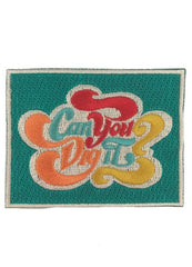 Judith March Red Hat with Can You Dig it Patch