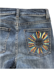 GOOD VIBES STITCHED DENIM