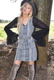 PLATINUM PYTHON DRESS