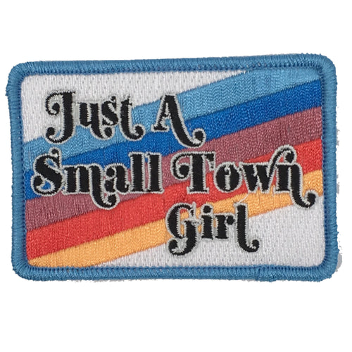 JUST A SMALL TOWN GIRL STRIPE PATCH - NAVY