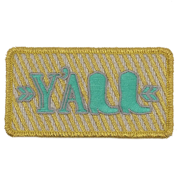 GOLD STRIPE Y'ALL PATCH