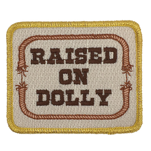 RAISED ON DOLLY PATCH - RED