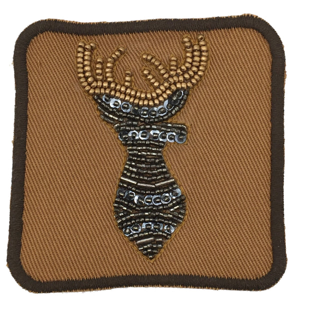 BEADED DEER PATCH