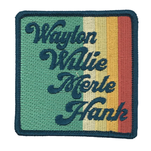 VINTAGE STRIPE COUNTRY LEGENDS PATCH - NAVY