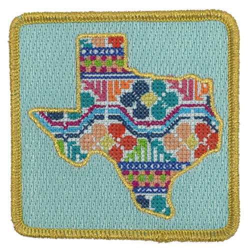 Patchwork Texas Patch - Navy