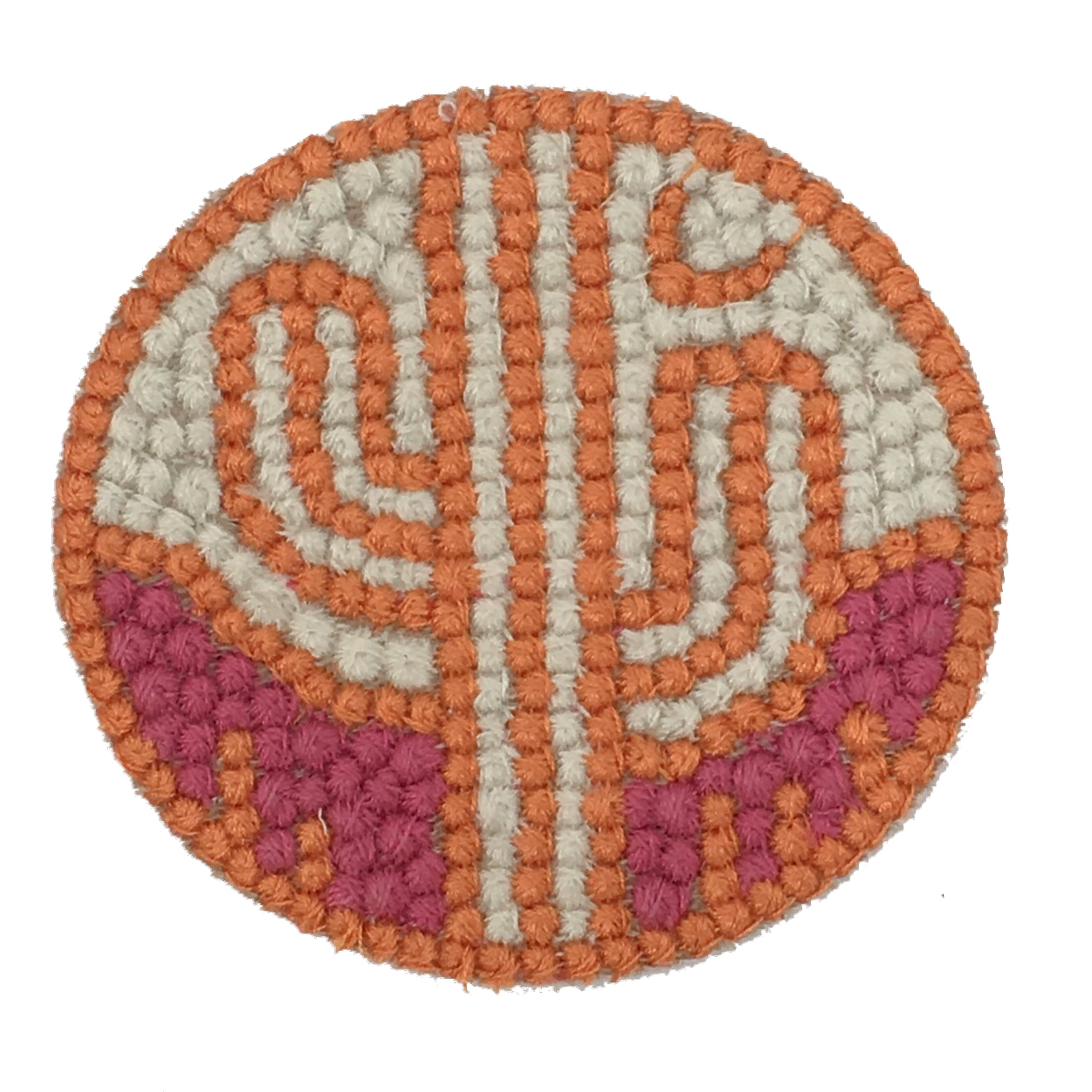 ORANGE & PINK CACTUS PATCH
