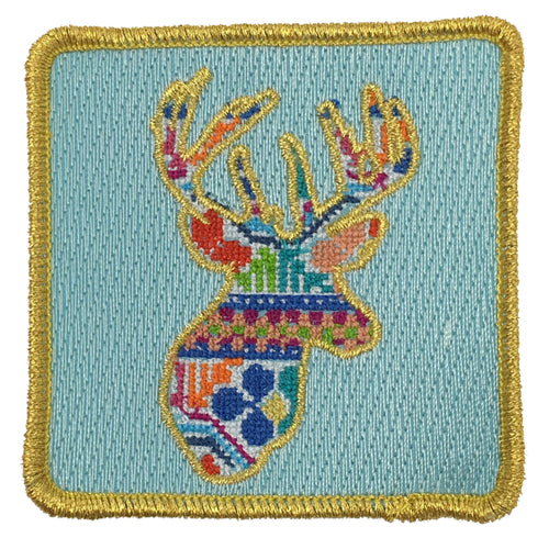 PATCHWORK DEER PATCH - RED
