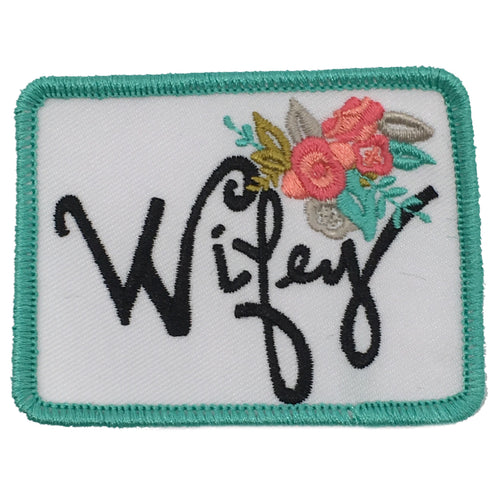 WIFEY FLORAL PATCH - RED