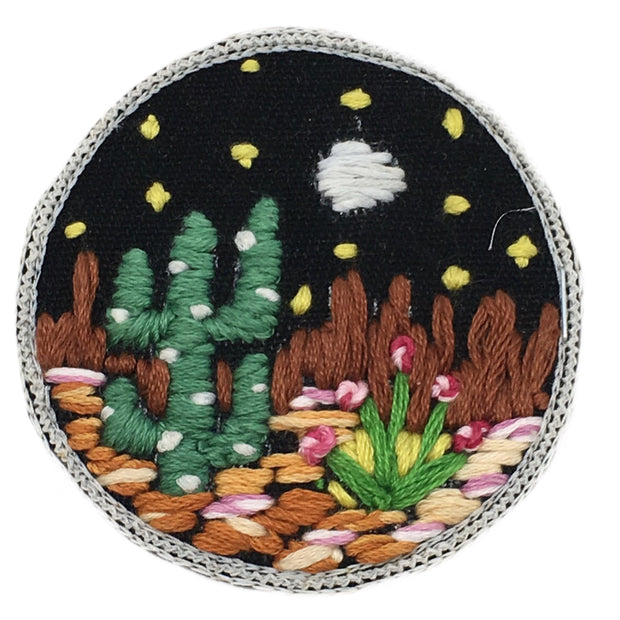 DESERT ROSE EMBROIDERED PATCH