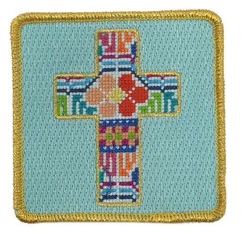 PATCHWORK CROSS PATCH - RED