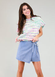 FUNFETTI TWEED TOP
