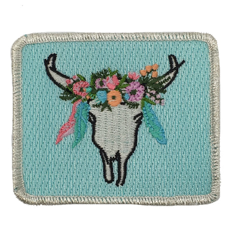 FLORAL STEER PATCH