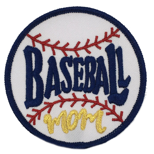 BASEBALL MOM PATCH - RED
