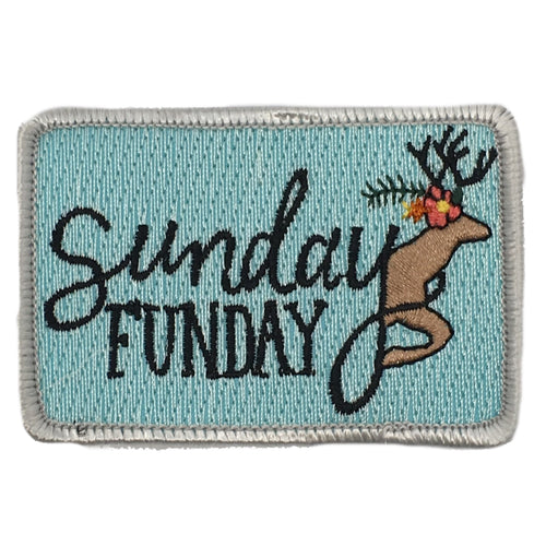 SUNDAY FUNDAY DEER PATCH - RED