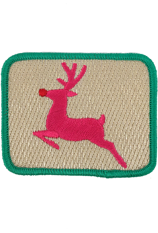 METALLIC RUDOLPH PATCH