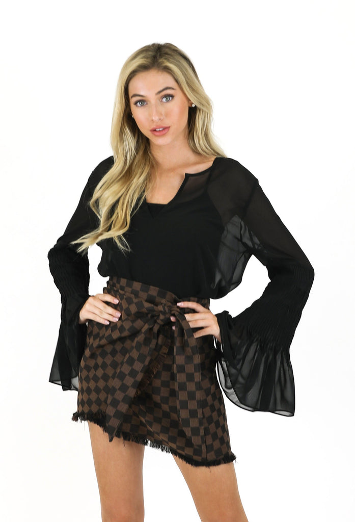 THE BLACK JULIET BLOUSE