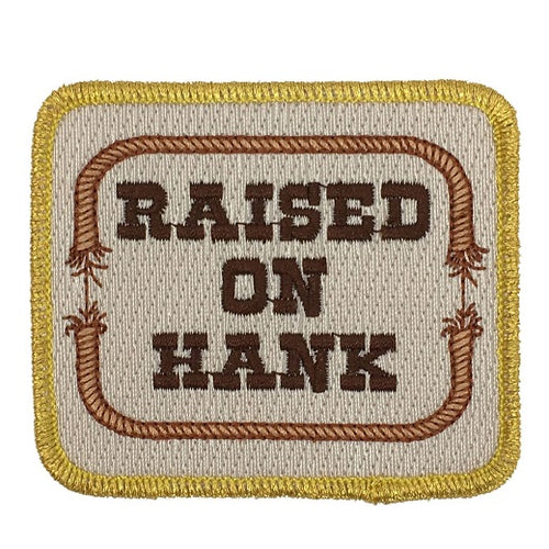 RAISED ON HANK PATCH - BLUE