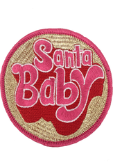 METALLIC SANTA BABY PATCH