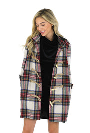 THE MANCHESTER PLAID TOGGLE COAT