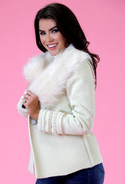 THE WINTER WHITE LAGERFELD COAT