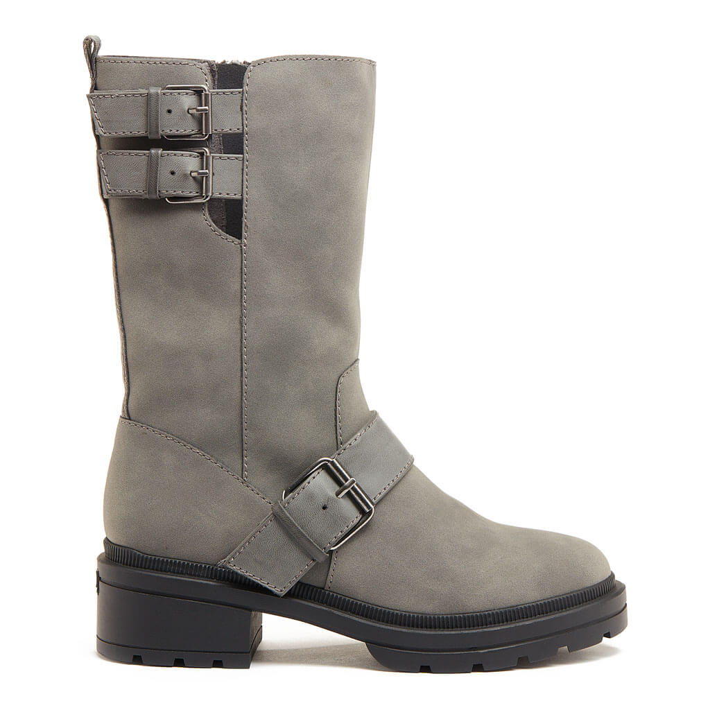 Irene Grey Biker Boot