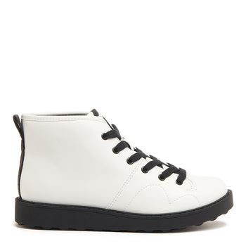 Jaiden White Ankle Boot
