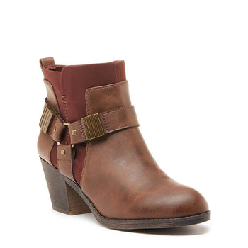 Setty Brown Biker Bootie
