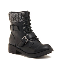 Travis Black Cuffed Ankle Boot
