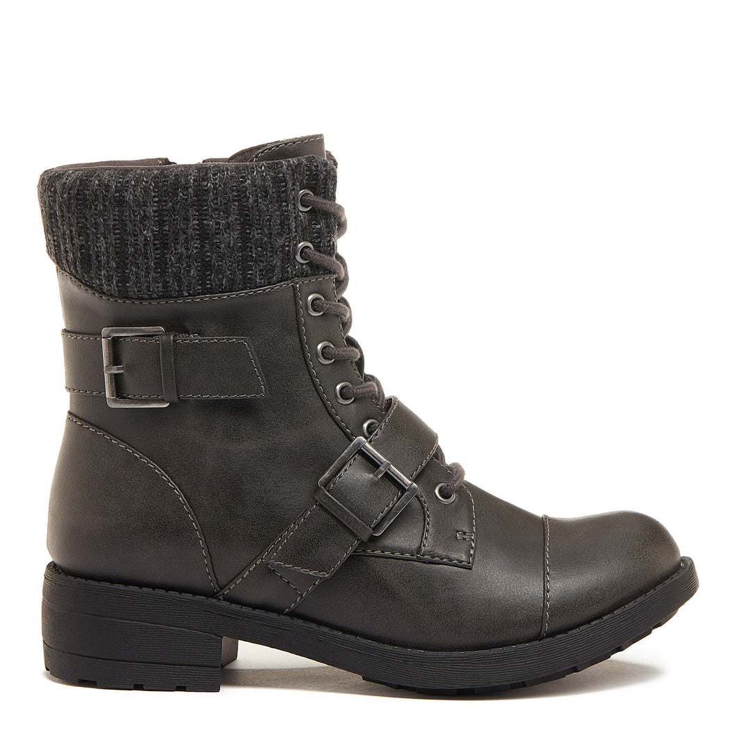 Travis Grey Cuffed Ankle Boot