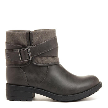 Trepp Grey Cotton / PU Winter Boot