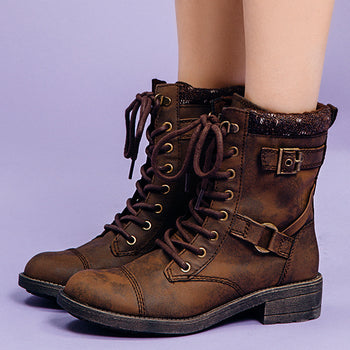 Thunder Brown Graham Biker Boot