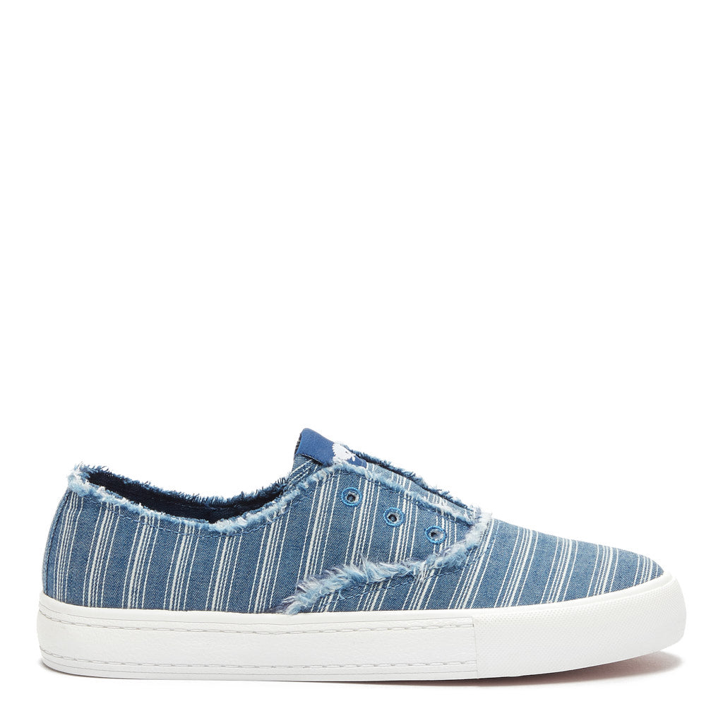 Afina Blue Stripe Slip-on Trainer