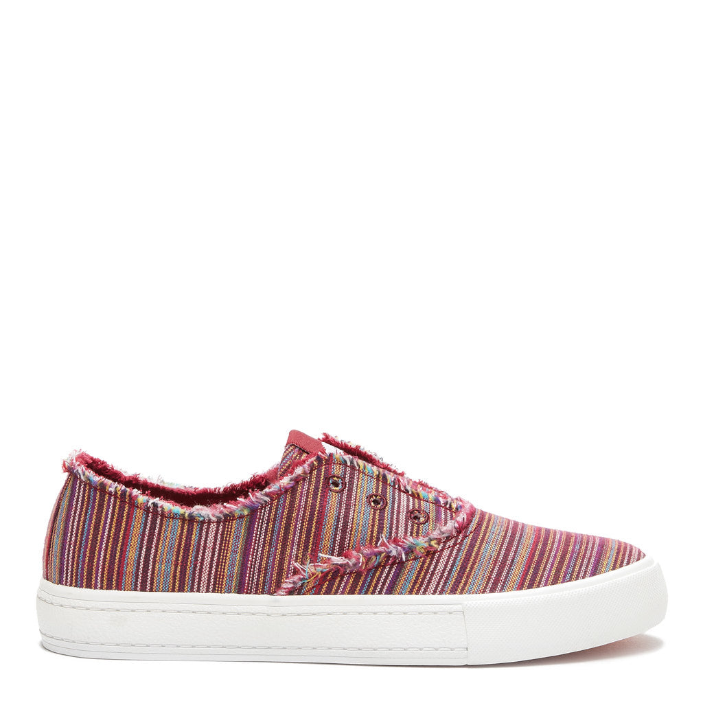 Afina Red Stripe Slip-on Trainer