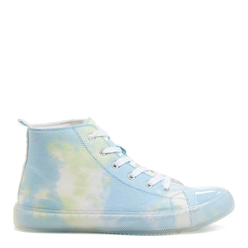 Aiden Blue Tie-Dye High Top Trainers