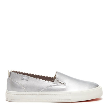 April Silver Princetown Slip-On Trainer