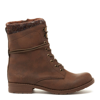 Bayte Brown Biker Boot