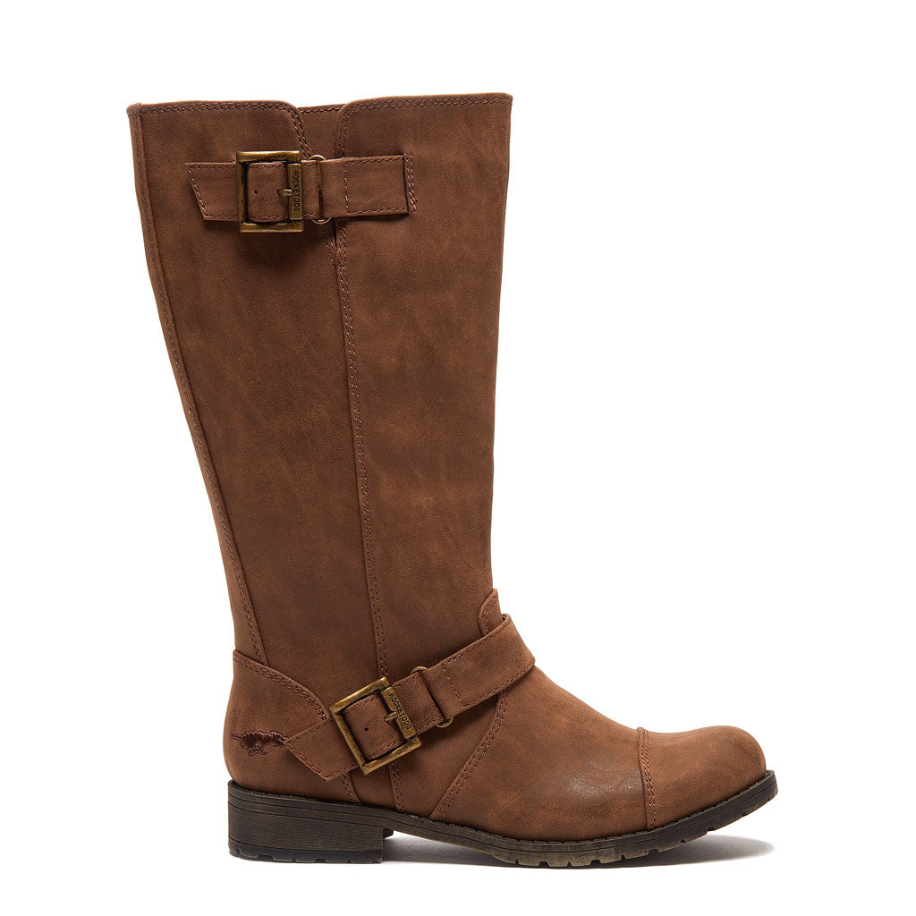 Berry Brown Biker Boot