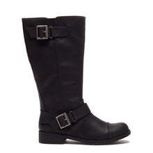 Berry Black Biker Boot