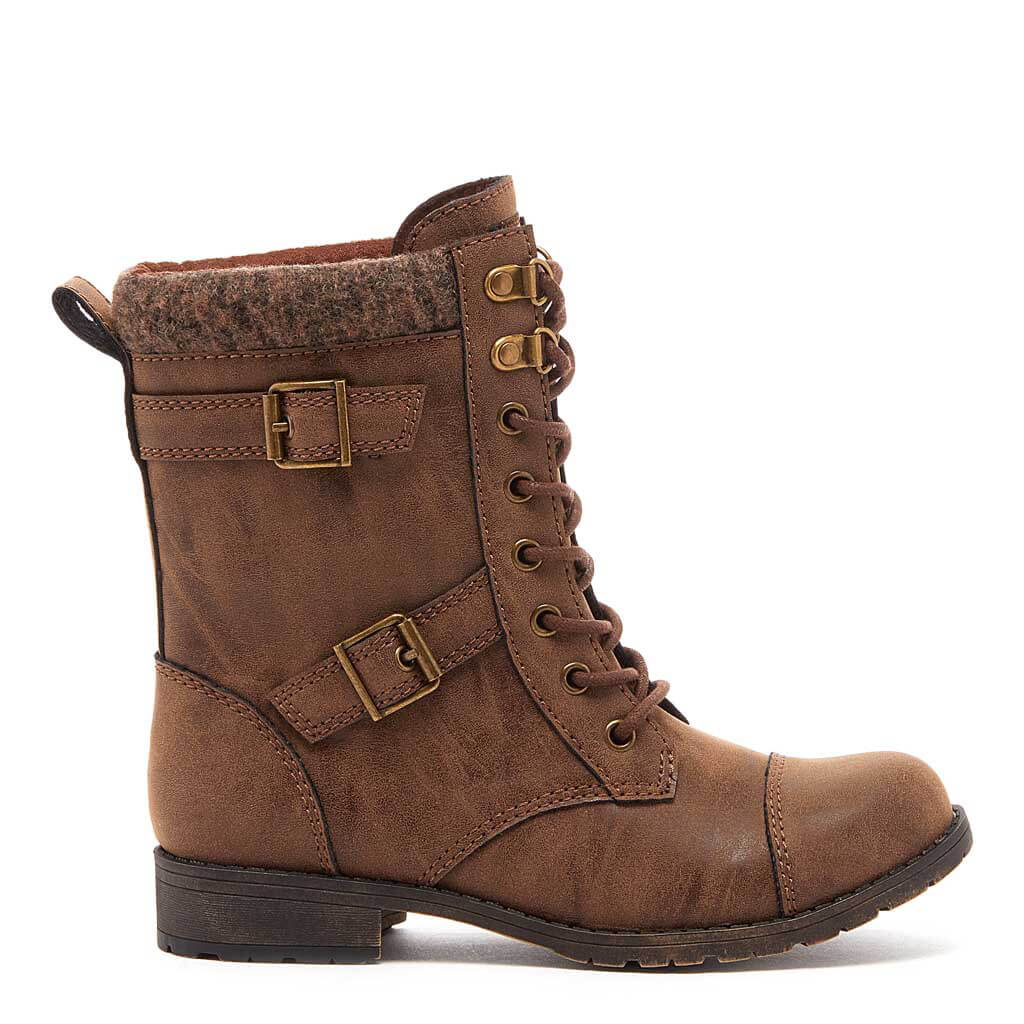 Billie Brown Biker Boot