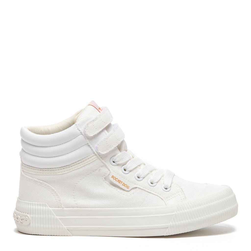 Chance White Canvas Trainer