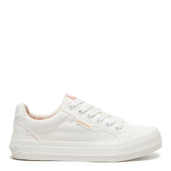 Cheery White Canvas Trainer
