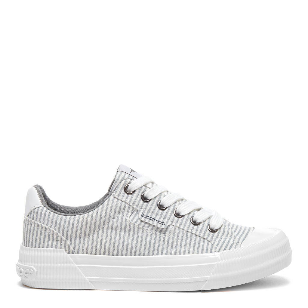 Cheery Grey Pinstripe Trainer