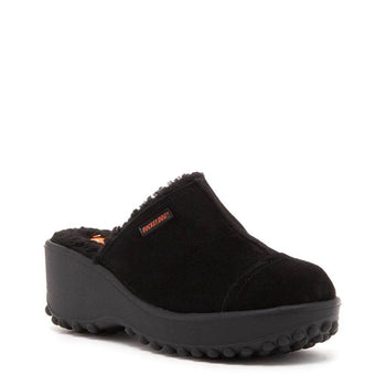 Fran Black Nubuck Clogs