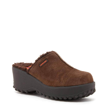 Fran Brown Nubuck Clogs